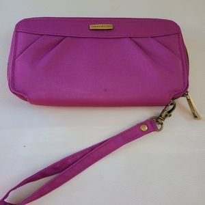 Travelon RFID blocking purple wristlet/wallet
